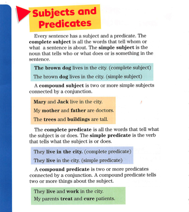 subjects and predicates 2 ppt